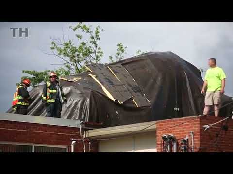 RAW VIDEO: Sageville Elementary School roof damage