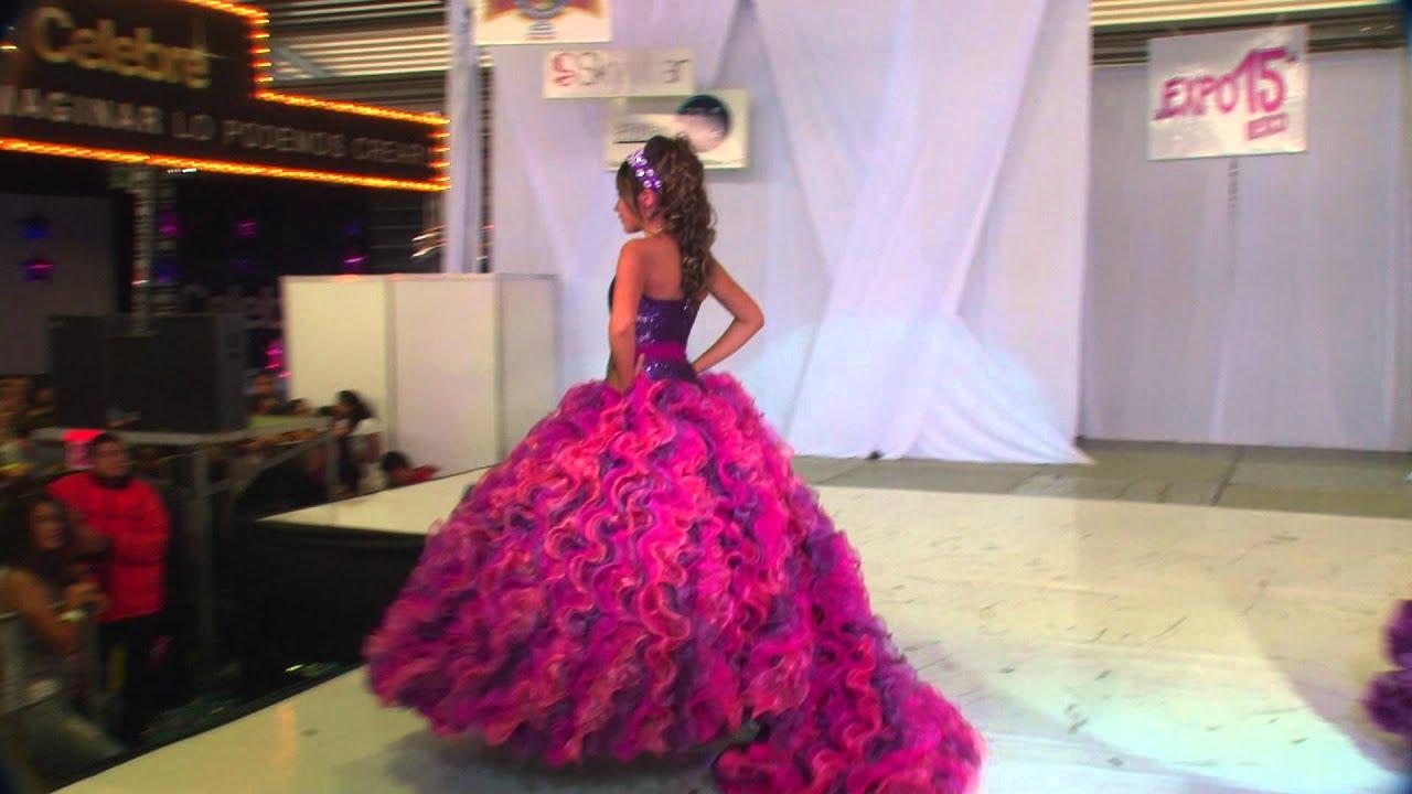 Expo 15 México Vestidos de 15 años Alta Moda Sposa con Adriano - YouTube