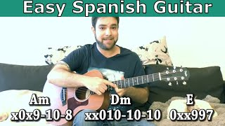 Lesson: Easy Spanish-Style Music - Without Knowing Scales!  (Guitar Tutorial w/ TAB)