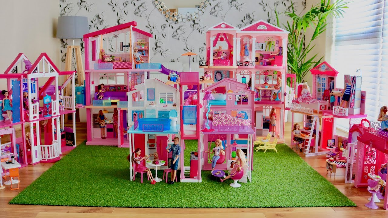 Huge Barbie Dreamhouse Collection 8 Barbie Dreamhouse Dollhouse