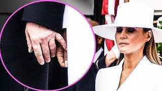CRINGE: Melania Repeatedly Rejects Holding Trump's Hand