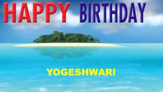 Yogeshwari   Card Tarjeta - Happy Birthday