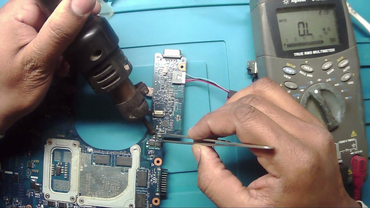 Laptoprepair How To Find And Repair Short Circuit In Laptop Motherboard Youtube