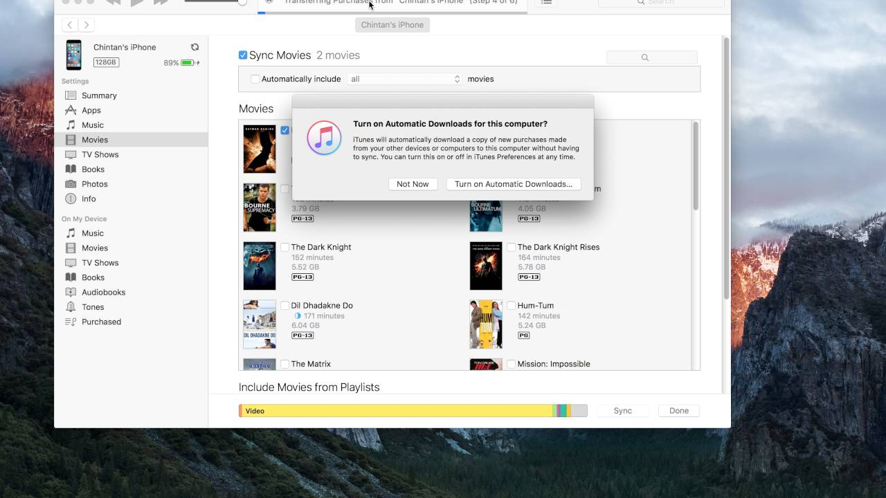 How to Transfer Movies From iTunes to iPhone