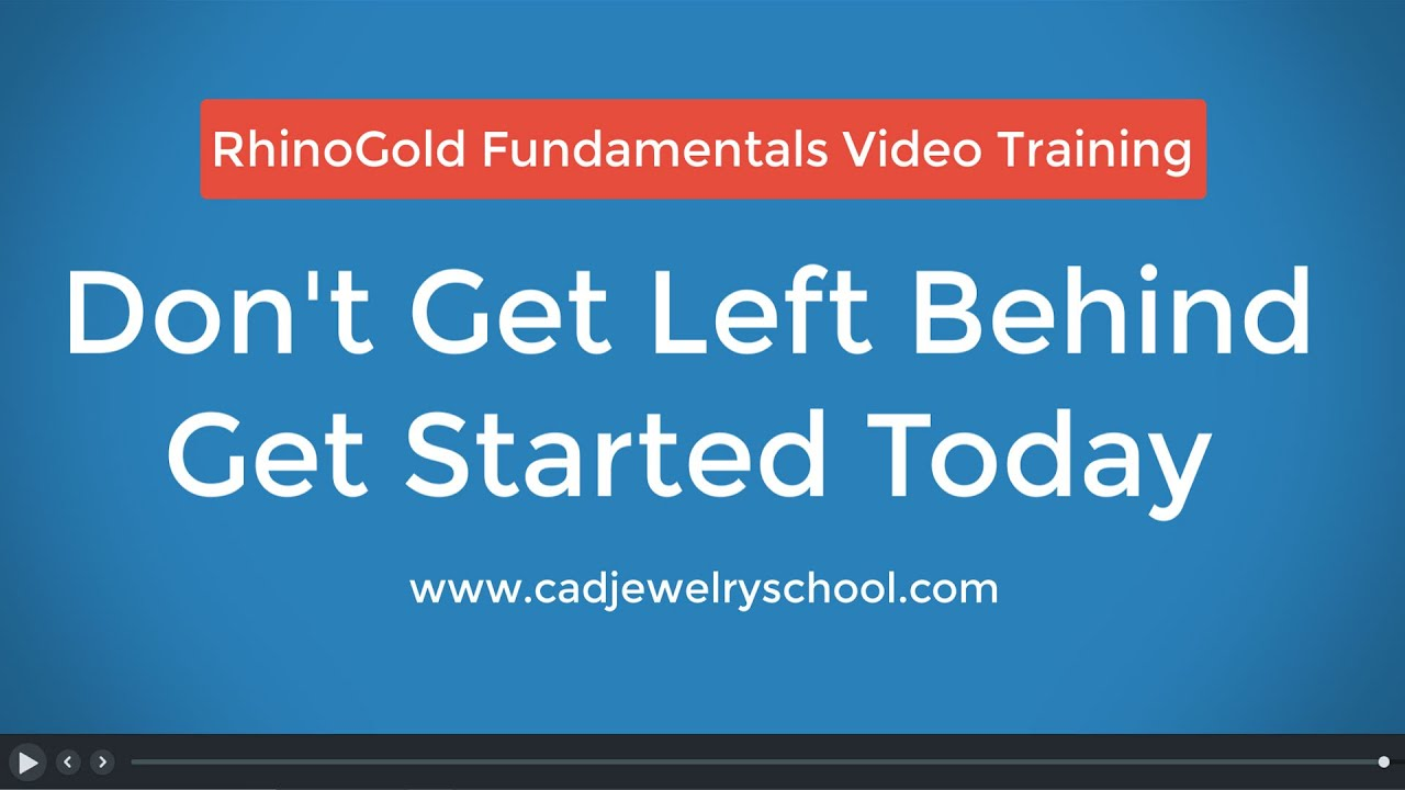 RhinoGold 6 5/6 6 Fundamentals Video Training, Learn CAD for