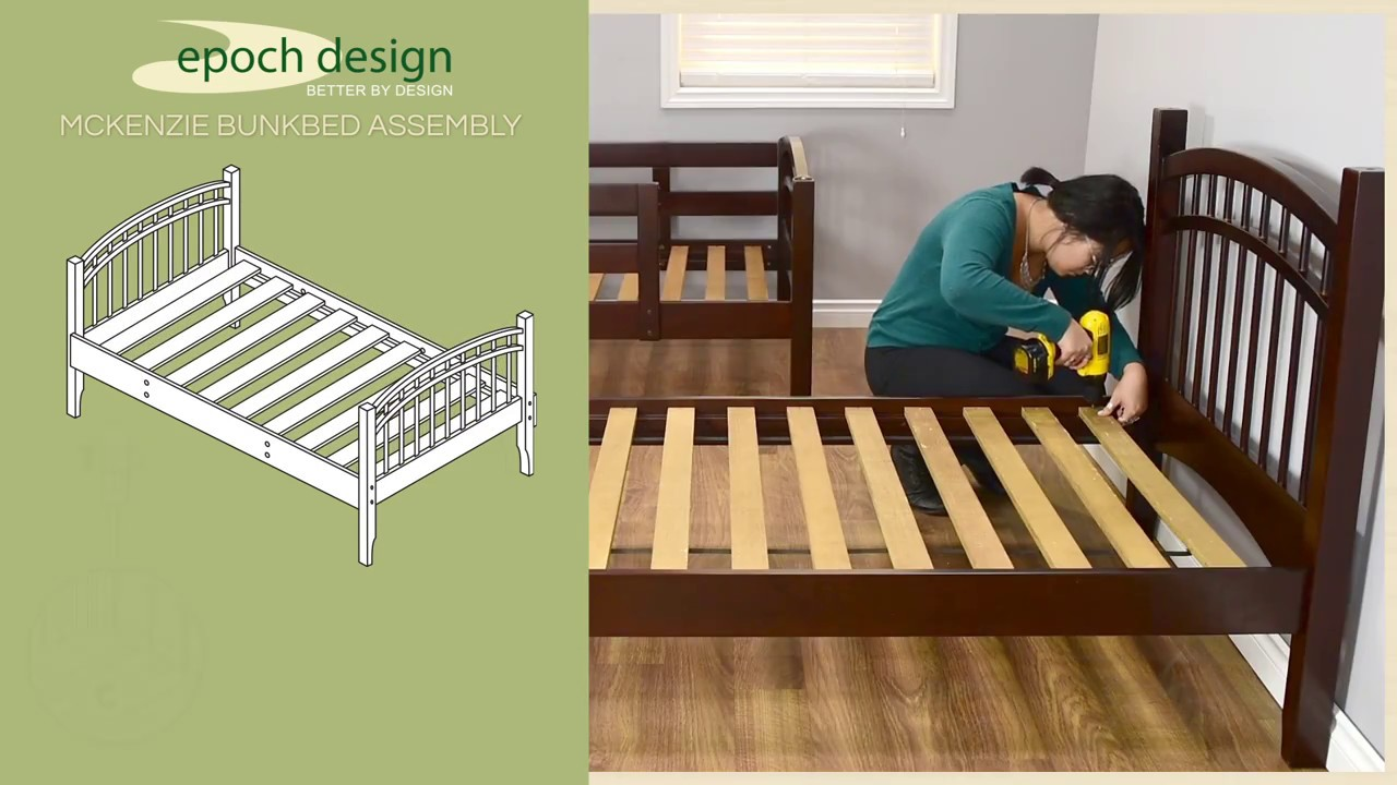 Mckenzie Hardwood Bunk Bed Assembly Instructions