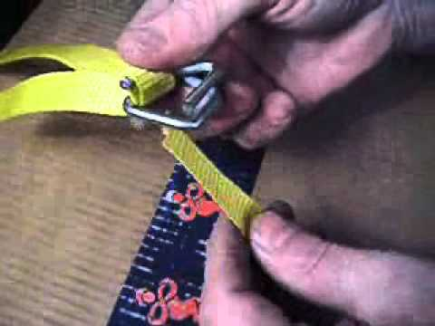 How to thread a metal buckle with woven polyester strapping