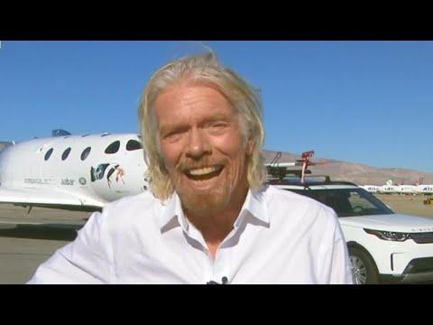 """A historic day"": Richard Branson on Virgin Galactic's space flight"