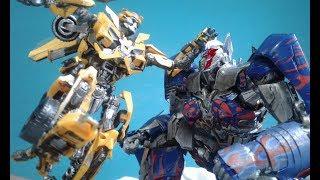 Transformers The Last Knight Optimus Prime vs Bumblebee