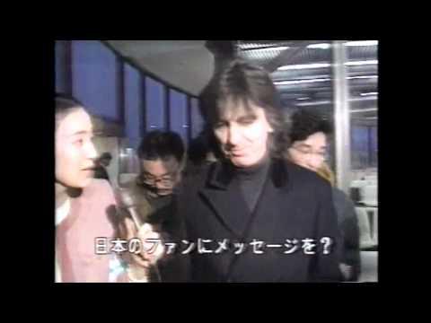 George Harrison Eric Clapton FNN News Arrival Japan 11/29/91