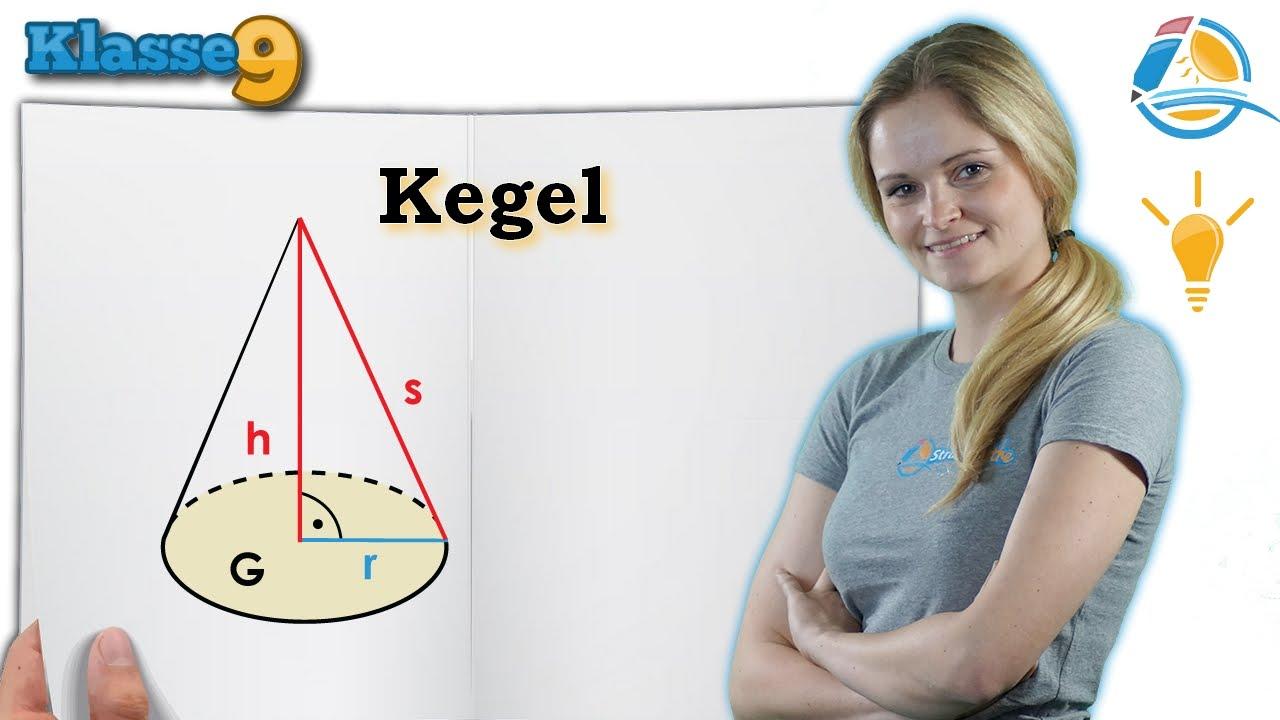 Kegel - Volumen und Oberfläche berechnen || Klasse 9 ☆ Wissen - YouTube