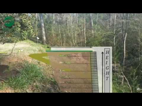 Retaining wall to level yard in Lilburn, GA - YouTube