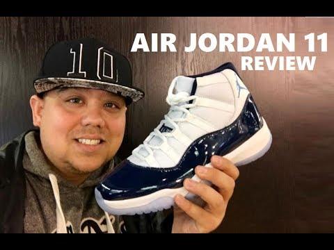 347e4bae530d64 Air Jordan 11 Win Like 82 Retro Navy XI Sneaker Honest Review - YouTube
