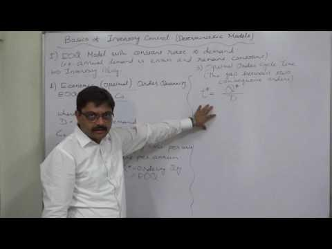 Inventory Control - 1 EOQ etc Formulae