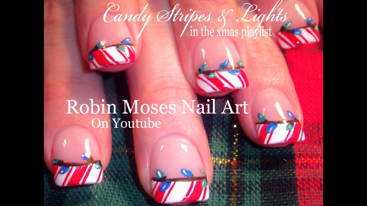 Easy Christmas Nail Art Designs Youtube | Splendid Wedding Company