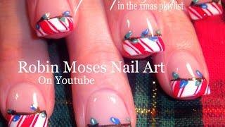2 Nail Art Tutorials | Diy Easy Christmas Nails! | Xmas Lights And Candy Stripes Design!