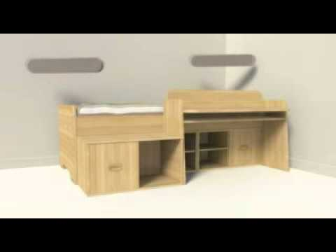 meubles gautier chambre bebop youtube. Black Bedroom Furniture Sets. Home Design Ideas