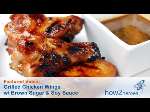 Grilled Chicken Wings With Brown Sugar & Soy Sauce
