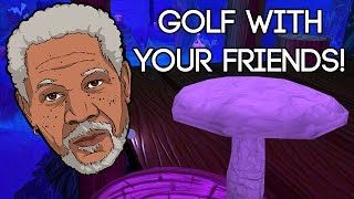 Golf with YOUR Friends Gameplay Deutsch #02 - Schwarzen in Golf besiegt!