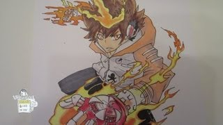 How to draw Hyper mode Tsuna 沢田綱吉  Part 2-Coloring
