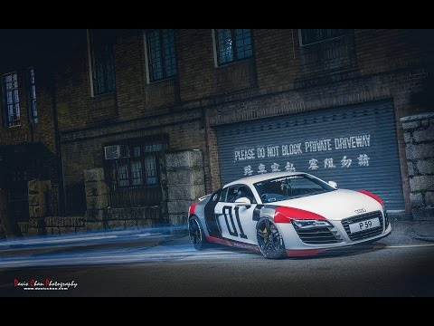 Audi R8 Automotive Light Painting Photography