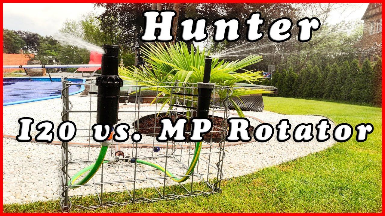 Hunter Rasenbewässerung - Vergleich Getrieberegner I20 vs MP Rotator