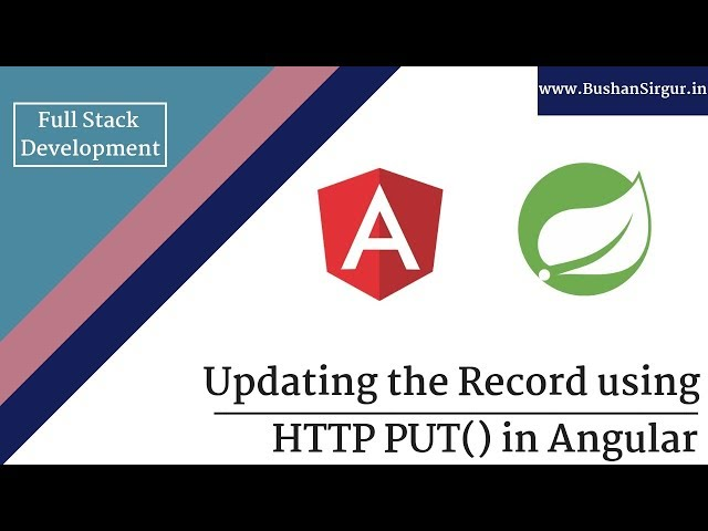 Angular and Spring MVC CRUD Tutorial - Updating a record with http put() - Part 22