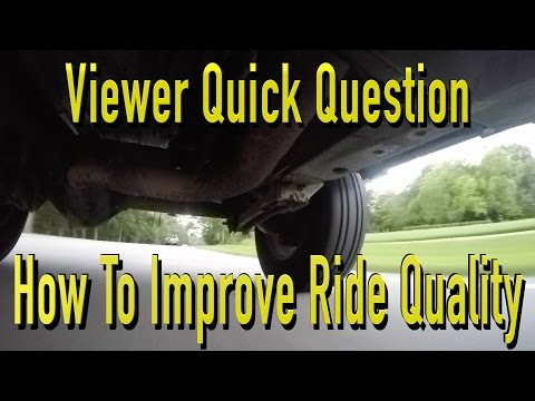 Ways To Improve A Vehicle Ride Quality