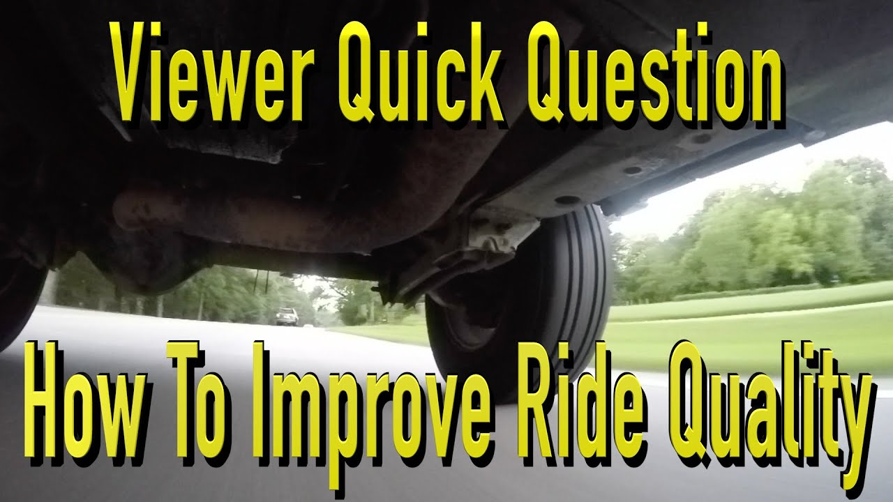 Ways To Improve A Vehicle Ride Quality Youtube Installing Trailer Wiring Harness Wj 04 Cant Get Lights Work