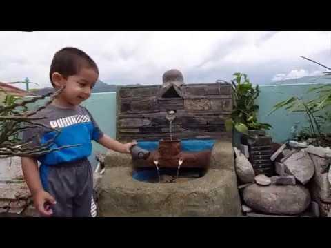 How to make amazing cemented waterfall fountain || बन्दाबन्दीलाई सिर्जनात्मक रुपमा उपयोग गरौं ।