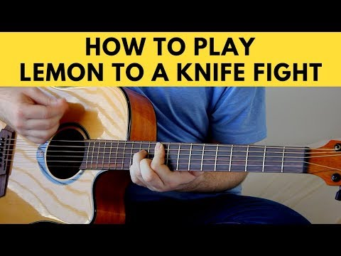 How To Play Lemon To A Knife Fight - The Wombats Guitar Tutorial w/ Chords
