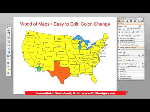 editable usa map powerpoint free