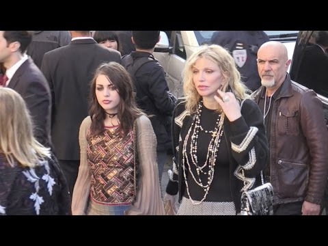 Carla Bruni, Courtney Love, Frances Bean Cobain and more at the Chanel Ready to Wear Fashion Show