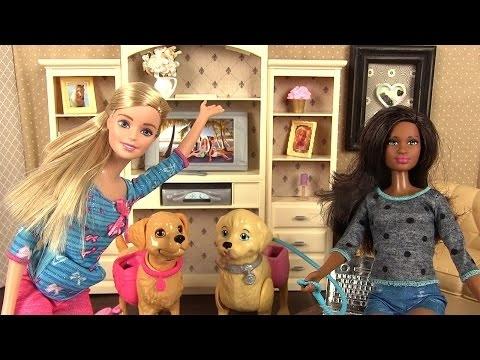 Poup e barbie et son chien taffy histoire de jouets youtube - Barbie et son chien ...