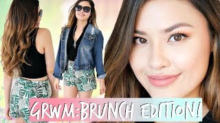 Get Ready with Me: The Brunch Edition! Hair, Makeup & Outfit!