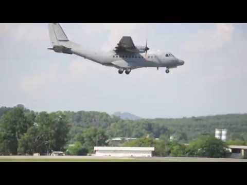 Royal Malaysian Air Force RMAF Military Aircraft Landing Subang Airport (CASA CN 235)