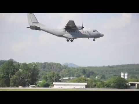 Royal Malaysian Air Force RMAF Military Aircraft Landing Subang Airport (CASA CN 235)