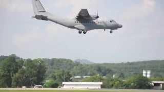 CASA CN 235 RMAF Military Aircraft Landing Subang Airport