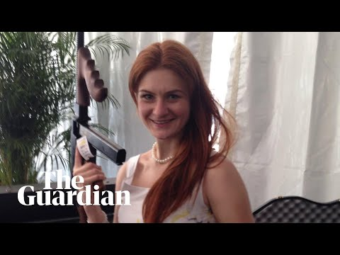 Maria Butina, accused Russian spy, poses with politicians and questions Trump