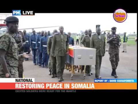 #PMLIVE: Uganda won't withdraw it's soldiers from Somalia until peace is restored-CDF