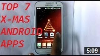 TOP 7 CHRISTMAS APPS FOR ANDROID[2013[THEMES-RINGTONES-ETC][ALL FREE]