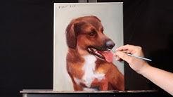 Alla Prima Oil Painting Tutorial   How To Paint Pet Portraits