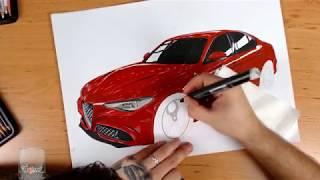 Alfa Romeo Giulia / quadrifoglio / drawing