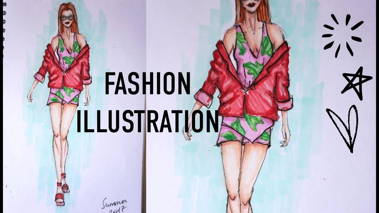Fashion Illustration// Фэшн Иллюстрация Speedpaint|девушки мода иллюстрации