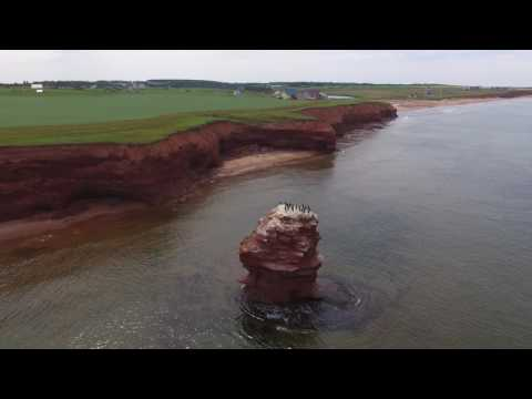 Flying over PEI North Shore by Drone