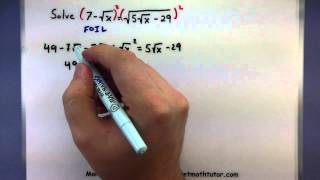 Pre-Calculus - Solving equations with square roots inside square roots