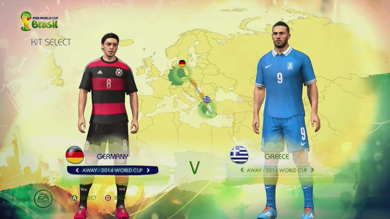 adb011764 2014 FIFA World Cup Brazil  UEFA Kits   Ratings (Full HD Gameplay) - YouTube