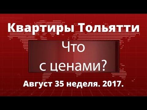 Цены на квартиры в Тольятти. Итоги августа 2017.