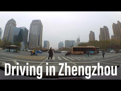 Driving in the East District of Zhengzhou, Henan, China. 駕車旅行/自駕游在中國河南省鄭州市東區