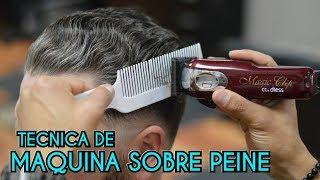 Tecnica de maquina sobre peine - clipper over comb